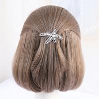 镶钻头饰发卡优雅顶夹一字夹刘海夹青蛙扣发饰品
