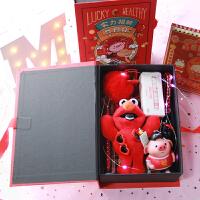 手帐礼盒财神猪手帐笔记本少女心文具套装伴手礼纸盒女友闺蜜生日礼物新年礼盒发光礼物盒