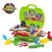 手提箱手工橡皮泥不干3D彩泥儿童玩具超轻粘土益智过家家玩具