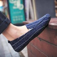 老北京布鞋男士一脚蹬懒人男鞋子豆豆休闲夏季潮鞋韩版春季帆布鞋