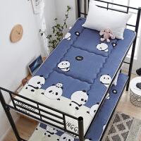 榻榻米床垫宿舍单人 学生软垫加厚褥子地铺寝室睡垫床褥垫被0.9米 熊猫仔(舒适中厚 蓬松软绵)