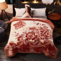毛毯婚庆大红喜双层加厚保暖冬季双人云毯礼品毯 601 11斤