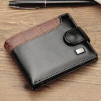 驾驶证钱包一体新款男士钱包横款休闲吸扣美金包美元钱夹