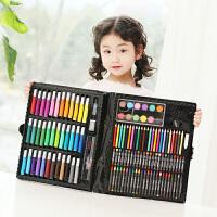 捷�N 儿童益智玩具绘画文具150件套装礼盒装画画玩具画笔蜡笔水彩笔小学生礼物用品画笔套装