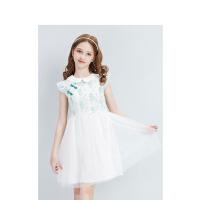 【3件1.5折价:79】笛莎童装女童裙子2021夏季新款中大童儿童女孩洋气蕾丝国风连衣裙