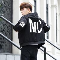 男士连帽夹克韩版修身潮流个性时尚外套休闲帅气褂子青少年男装