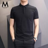 POLO衫男短袖夏季韩版男士修身半袖保罗衫潮流上衣翻领T恤衫男装