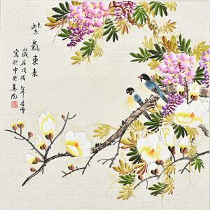 中央美院凌雪四尺斗方花鸟画gh03724