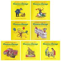 Curious George Collection 好奇猴乔治7册英文正版绘本 儿童英文英语学习书籍 3-6-8-10岁