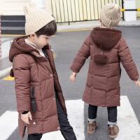 男童棉袄外套男宝宝棉衣中长款冬装羽绒潮