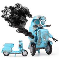 威将放大小摩托 变5电影合金版小战损灵通mw02吉丫丫机器人