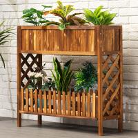 淘之良品实木花架子置物装饰多层室内阳台绿萝盆多肉客厅落地式铁艺