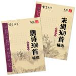 书写天下 唐诗 宋词 国学钢笔楷书字帖套装(共2册)
