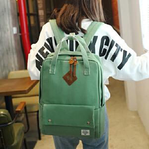 帆布时尚女包手提包 韩版双肩包学生背包书包双肩旅行包