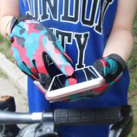 女士新款透气防滑触摸屏骑行手套 触摸屏自行车手套耐磨透气防滑运动户外保暖