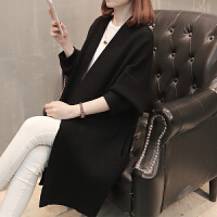 2018新款女装秋装针织外套韩版时尚口袋长款大衣外搭秋开衫毛衣女