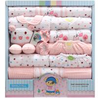 班杰威尔 18件套婴儿衣服纯棉 新生儿礼盒 秋冬加厚初生宝宝套装 小宝宝