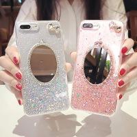 日韩X手机壳水钻透明6s全包硅胶软苹果7/8plus女款 6plus 粉红色