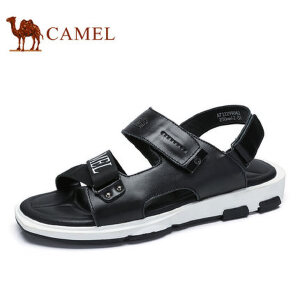 camel骆驼男鞋  夏季新品 凉鞋男潮流时尚休闲魔术贴牛皮凉鞋男