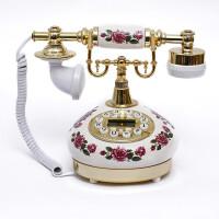 至臻陶瓷仿古电话 卧室客厅欧式田园有绳家庭固定座机 家用办公