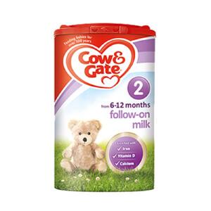 保税区发货 英国Cow&Gate牛栏婴幼儿配方奶粉2段(6-12个月宝宝 900g)日期新鲜
