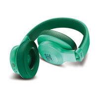 JBL E55BT头戴式无线蓝牙耳机音乐耳机便携HIFI重低音 立体声音乐耳机 青