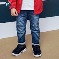 迷你巴拉巴拉男童牛仔裤长裤2018秋季新款童装儿童男休闲裤子潮