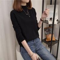 针织衫长袖女2018秋装新款韩版宽松女装半高领套头毛衣打底衫上衣