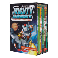 Ricky Ricotta's Mighty Robot 威猛机器人8本全套 英语绘本 进口漫画幽默图书故事书 内裤超