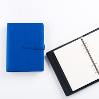 卡杰A5复古插扣活页本商务记事本皮质创意笔记本文具日记本子定制