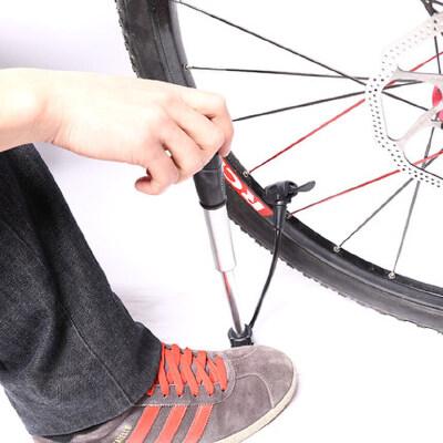 打气筒带软管公路死飞山地自行车打气筒高压便携美法嘴