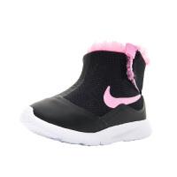 【1件4折】耐克(Nike)女童靴子 新款儿童雪地鞋 加绒保暖棉靴922870-009 黑色/粉色