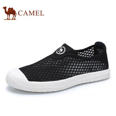 骆驼牌 男鞋 新品舒适透气网面鞋镂空轻便套脚休闲鞋男