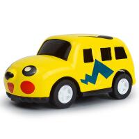 Q版迷你儿童条装卡通动物玩具车模型 K猫 比卡丘 维尼熊回力车