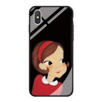 陆心媛苹果x手机壳玻璃iphone7plus女8p个性6s全包xr新款xs max潮 5/5s 图1