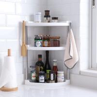 厨房转角置物架 多功能转角置物架家用厨房调味架双层三层浴室卫生间收纳调料架