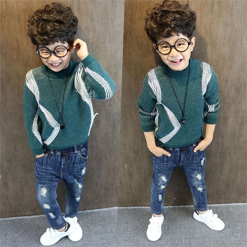秋冬季男童毛衣潮童装儿童毛线衣宝宝上衣保暖线衫