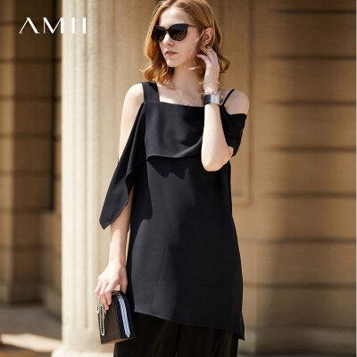 【到手价:102元】Amii极简欧货潮chic超仙吊带垂感雪纺衫女2018夏装新气质背心上衣 .