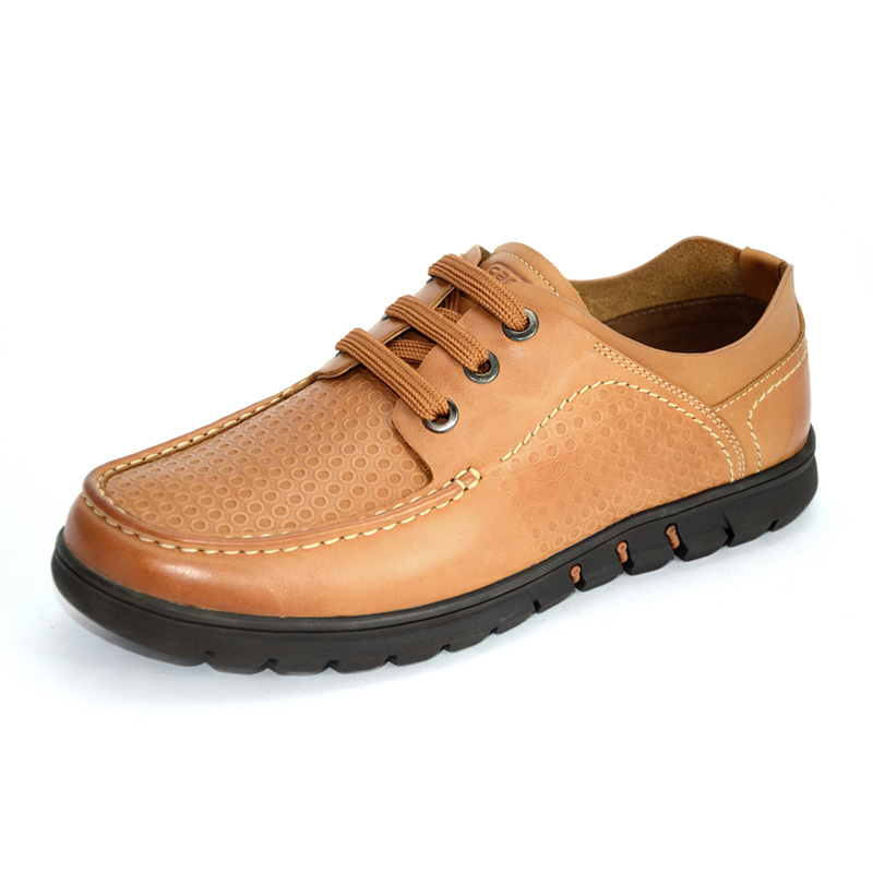 骆驼动感(camel active)户外休闲鞋男士日常绑带牛皮单鞋
