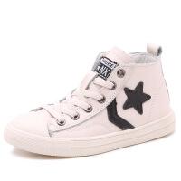 儿童运动鞋春秋新款男女童韩版小白鞋高帮防滑中大童休闲板鞋