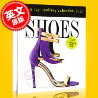现货 2020年日历 关于鞋子的主题日历 一天一页 英文原版 Shoes Page-A-Day Gallery Calendar 2020