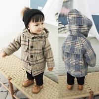 宝宝呢大衣男童毛呢外套冬小童婴儿上衣儿童长袖