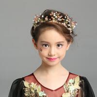 儿童发饰手工串珠 皇冠 公主配饰 女童礼服演出饰品婚纱头饰