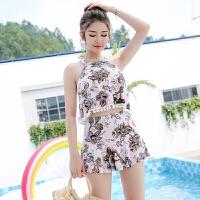 泳衣女两三件套韩国泡温泉小胸游泳衣女保守分体遮肚显瘦性感