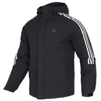 Adidas阿迪达斯男装运动连帽夹克外套保暖羽绒服EH3995