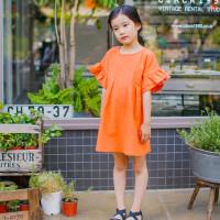 夏装新款童装中大女童裙韩版连衣裙亲子装