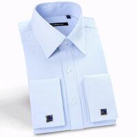 白法式袖扣衬衫男长袖修身衬衣商务正装绅士新郎伴郎四季NS01