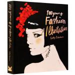 英文原版 百年时尚服装插画集 100 Years of Fashion Illustration 小开本 便携版