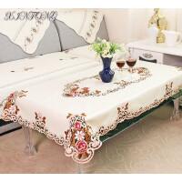 欧式绣花餐桌布椅套 布艺桌旗 茶几布 家居用品 实物图