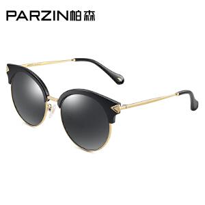 帕森时尚偏光太阳镜女性复古大框箭头潮流墨镜开车司机驾驶镜9889